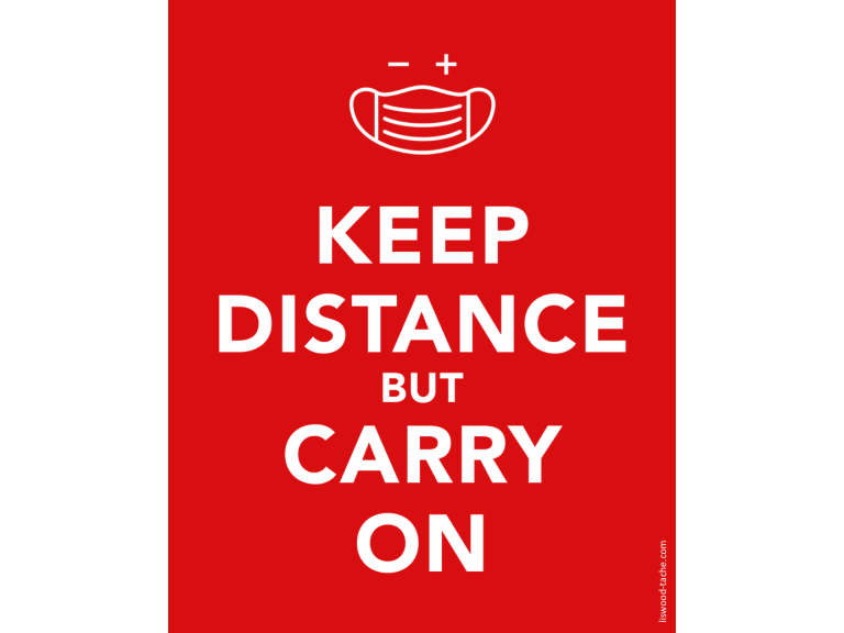 Keep Distance but Carry On visual