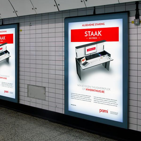 Pami publiciteit station